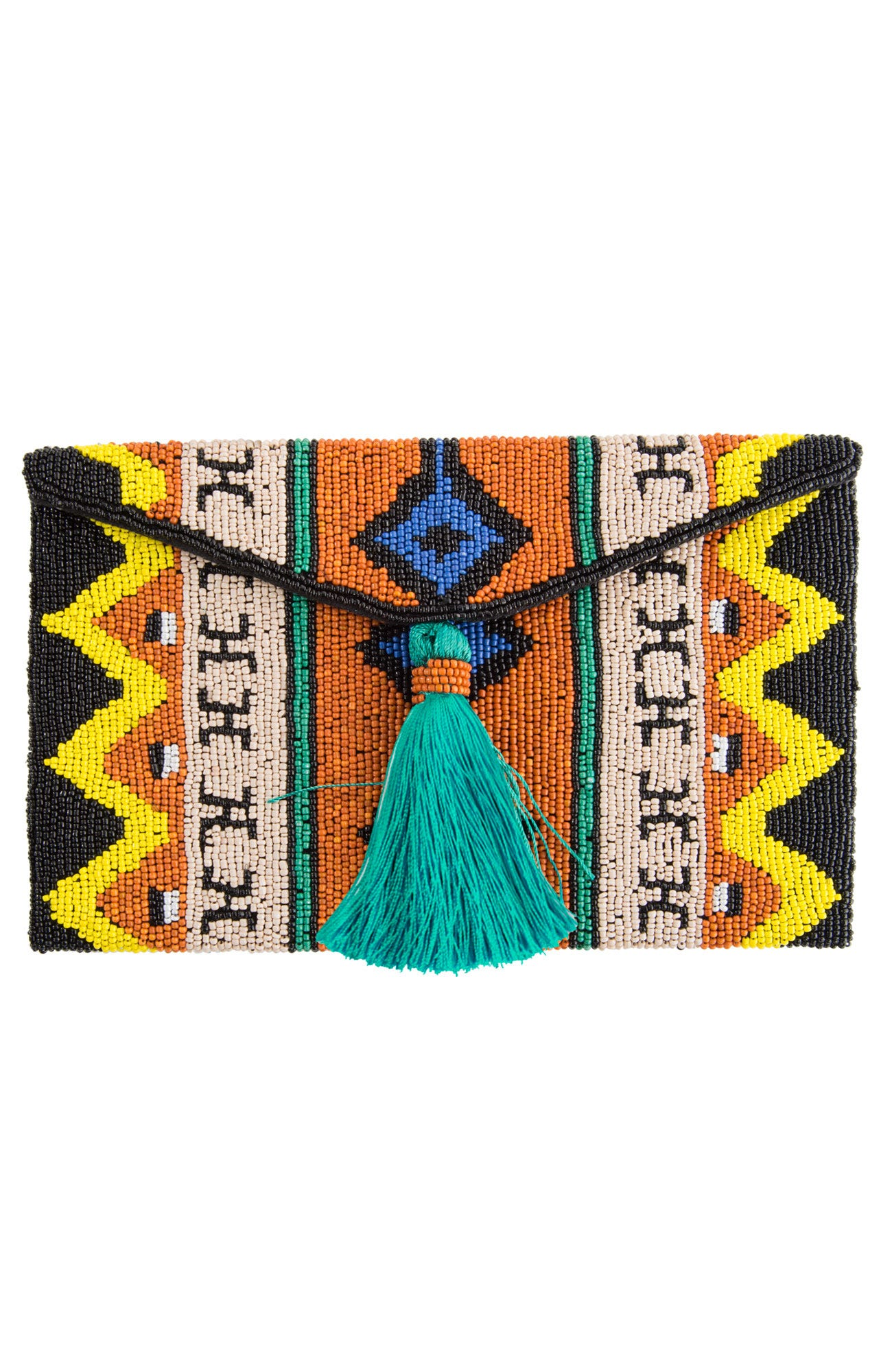 Azteca Beaded Clutch