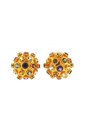 18k Gold Multi Gemstone Sputnik Earrings