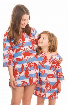 Cotton CHILDREN'S Tunic - Lobster Lounge