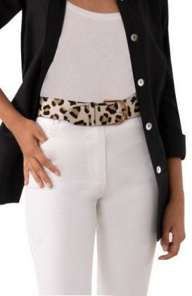 1 or 2 Inch Belted Bliss - Leopard