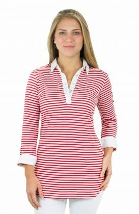 Cotton Modal Striped Shirt - Rugby