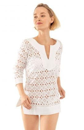 Cotton Eyelet Tunic - Alibi