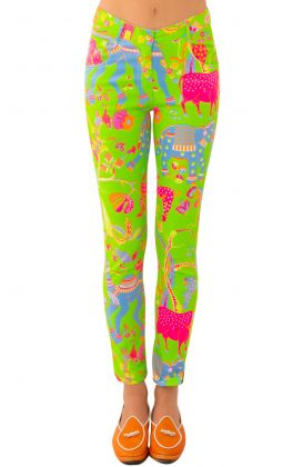 GripeLess Cotton Spandex Jeans - Animal Kingdom
