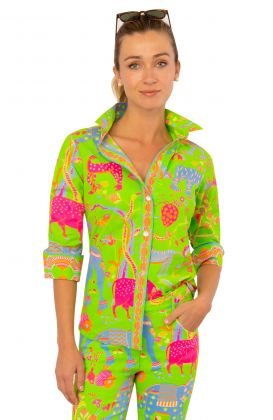 Cotton Boyfriend Shirt - Animal Kingdom