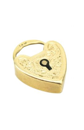 Antique 14KT Yellow Gold Heart Padlock