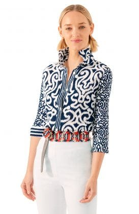 Cotton Boyfriend Shirt - Arabesque