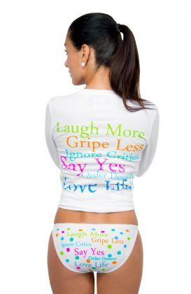"""Laugh More""  3 Pairs Cotton Underwear"