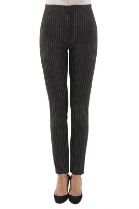 GripeLess Stretch Pinstripe Pull On Pant