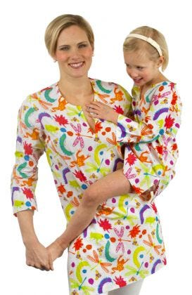 """Mommy & Me"" Mommy Cotton Tunic - Bug Spray"