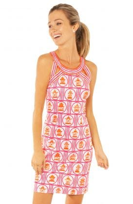 Jersey Isosceles Dress - Bird Palace