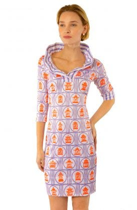 Jersey Ruffneck Dress - Bird Palace