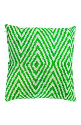 Hand Woven Velvet Silk Pillows - Chevy Ikat