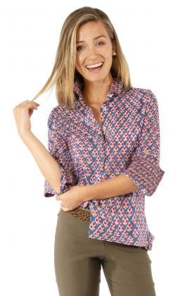 Comfy Cozy Hand Block Print Cotton Voile Shirt