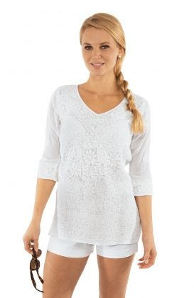 Hand-Embroidered Tunic - Copacabana