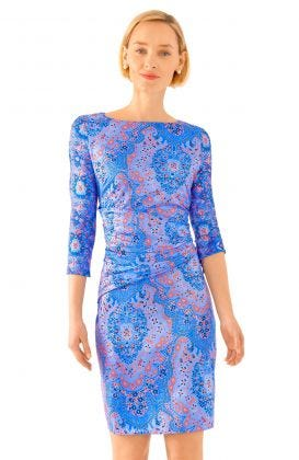Jersey Corset Dress - Pleasantly Paisley