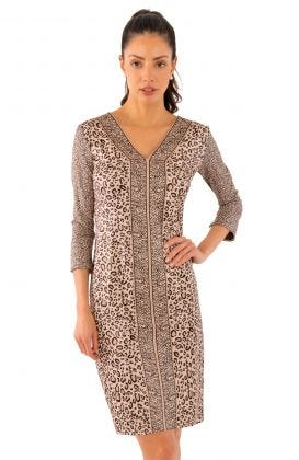 Jersey Bordertown Dress - Cougar