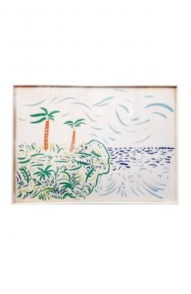 "David Hockney ""Bora Bora"" Lithograph"
