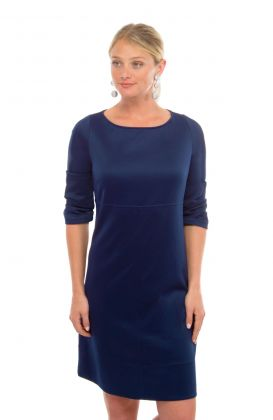 Jersey Debutante Empire Dress - Solid