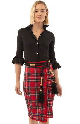 Jersey Faux Wrap Skirt - Duke of York
