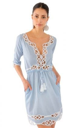 Embroidered Cut Out Dress - Infinity