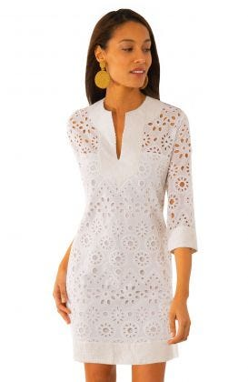 Cotton Eyelet Dress - Ethereal