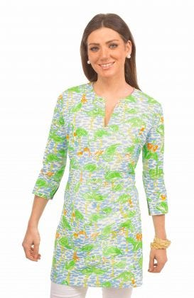 """""""Mommy & Me"""" Mommy Cotton Tunic - Flamingle"""
