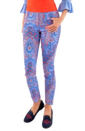 GripeLess Cotton Spandex Jeans - Pleasantly Paisley