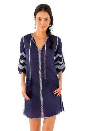 Cotton Embroidered Dress - Hippie