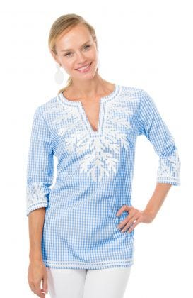 Cotton Gingham Tunic - The Reef
