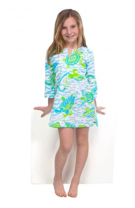 """Mommy & Me"" Girls Cotton Tunic - Turtle Time"
