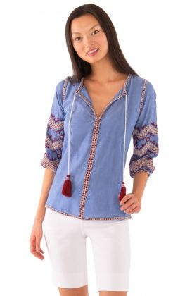 Cotton Embroidered Tunic - Hippie