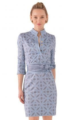 Jersey Mandarin Dress - Hooplah