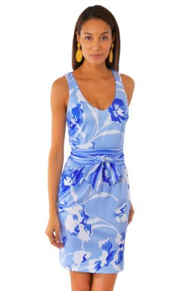 Jersey Date Night Dress - Iconic Iris