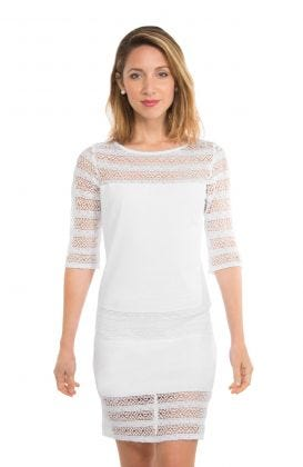 Cotton Lace Dress -The Illusion