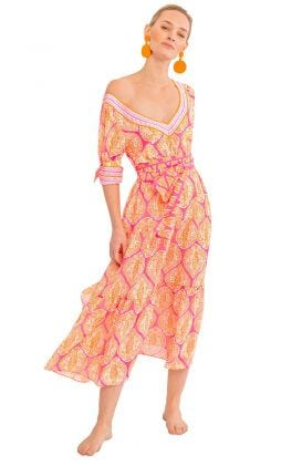 Aix-en-Provence Midi Dress - Indian Summer