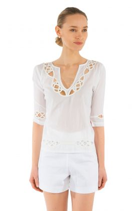 Embroidered Cut Top - Infinity
