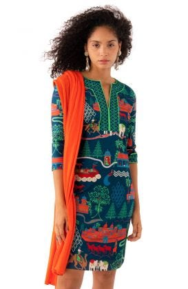 Splitneck Dress Jodhpur Journa