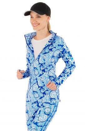 Jock Girl Half-Zip Pullover - Plentiful Paisley