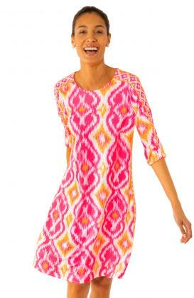 Jersey Swinger Dress - Kitt Ikat
