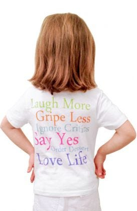 """Laugh More""  Kids Cotton Short Sleeve Tee"