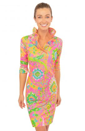 Jersey Ruffneck Dress - Magic Carpet
