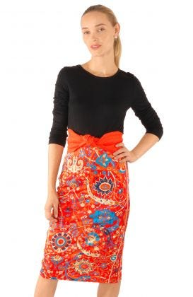 Jersey Pencil Skirt - Magic Carpet