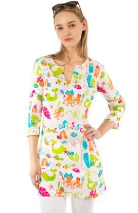 """""""Mommy & Me"""" Mommy Cotton Tunic - Mermaids"""