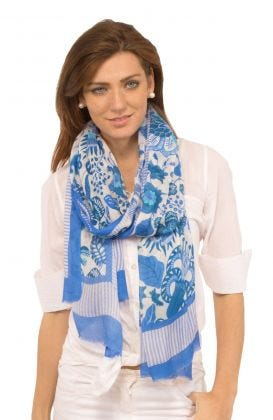 Modal Printed Scarf - Isabel's Garden