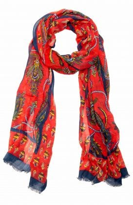 Modal Printed Scarf - Plume