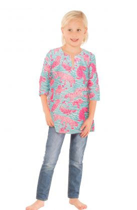 """Mommy & Me"" Girls Cotton Tunic - Tiger Tails"