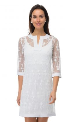 Mesh Embroidered Dress - Net Game