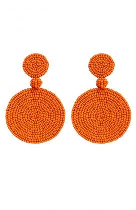 Beaded Circle Clip Earrings - Capetown