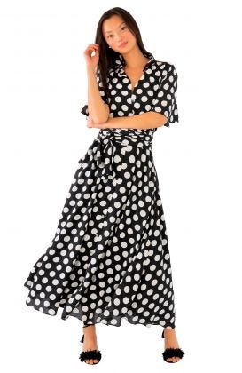 Panache Midi Dress - Polka Dot