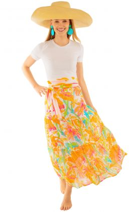 Ipanema Long Skirt - Palm Palm